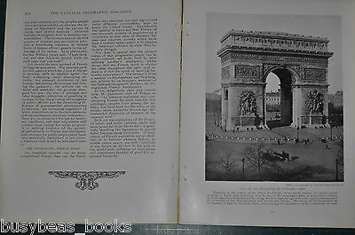 1914 FRANCE magazine article, people history etc by Major General A. W. Greely