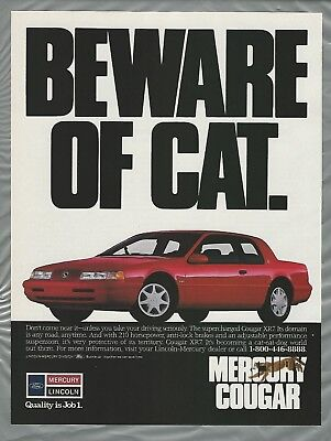 1990 MERCURY COUGAR advertisement, Ford-Lincoln-Mercury Cougar