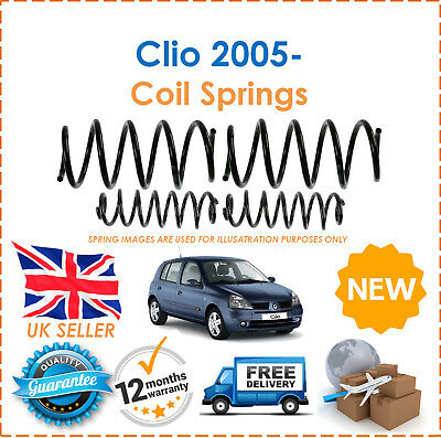 For Renault Clio MK3 2005- 2 Front & 2 Rear Suspension Coil Springs Set Pair x2