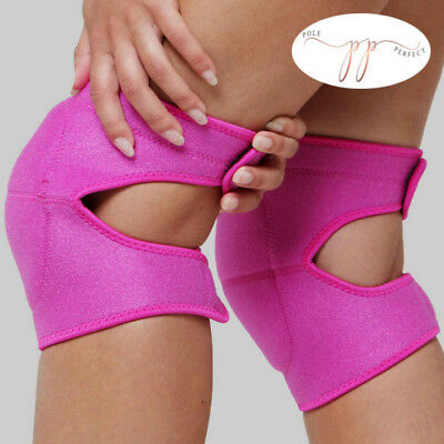 Pole Perfect open back knee pads adult small medium large black pink dance new