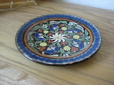 A Lovely Small Japanese Totai Cloisonne Floral and Heart Designed Plate