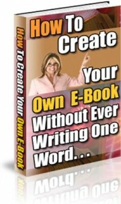 How To Create Your Own eBook PDF eBook Master Resell Rights MRR Free Shipping