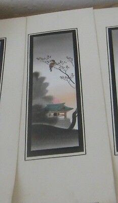 Antique Matsumoto Studio Japanese Hand Painted Water Colour Bird Signed