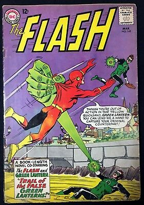 Flash (1959) #143 VG (4.0) co-starring Green Lantern