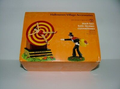 Vintage Department 56 Halloween - Black Bart Knife Thrower Extraordinaire In Box