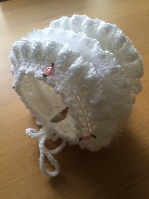 Adults Fancy Dress Stag And Hen Party Roleplay Baby Crochet Bonnet