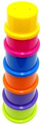 6 Stacking Cups Baby Stack Up Toy Cups Coloured Stack Up Cups Stacking Cup Tower