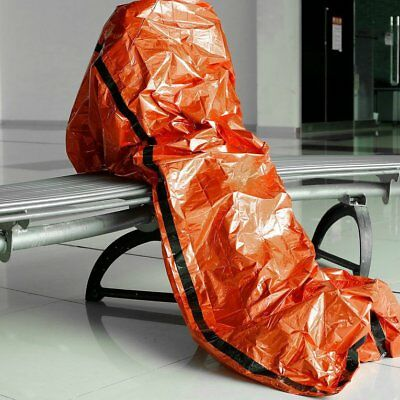 Orange Outdoor Camping Emergency Warm Heat Waterproof Survival Sleeping Bag F