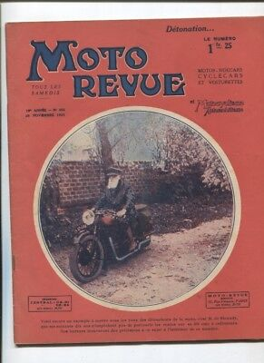Moto Revue N°455  ;  28 novembre  1931 :  photo Brough superior à 4 cylindres