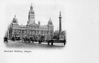 Scotland early unused black & white postcard of  Municipal Buildings Glasgow