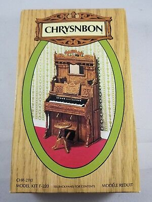 Chrysnbon Miniature Parlor Pump Organ Kit F 220 Stool Sealed Plastic Pieces 1:12