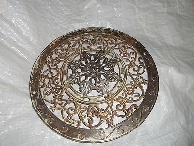 HEAT VENT round cast iron ornate ceiling grate register VINTAGE 1901 ANTIQUE