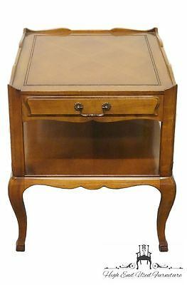 HERITAGE FURNITURE Country French Provincial End Table w/ Inlaid Top