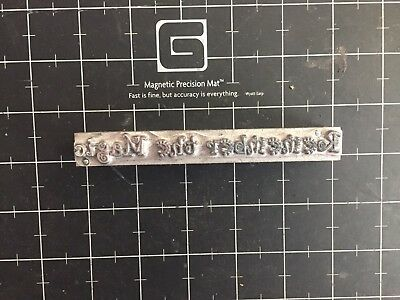 "Howard Imprinting Machine ""remember The Magic""  Die Hot Foil Stamping Die"