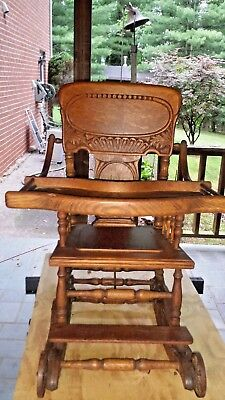 Antique High Chair Over 100 Years Old Perfect Condition Been In My Family