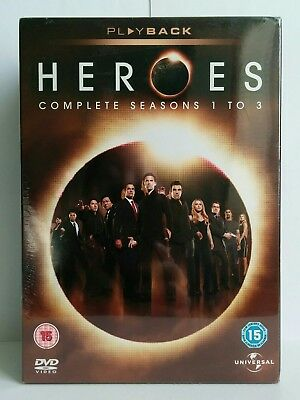 Heroes Complete Seasons 1-3 DVD Box Set *Plus Bonus Disc* (Brand New & Sealed)