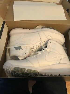 New Nike Air Jordan 1 Retro Golf Shoes - Size 10.5 - New In Box White