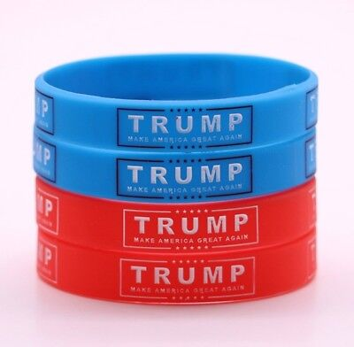 Donald Trump 2020 MAGA 1 Wristband Your color Choice Red or Blue