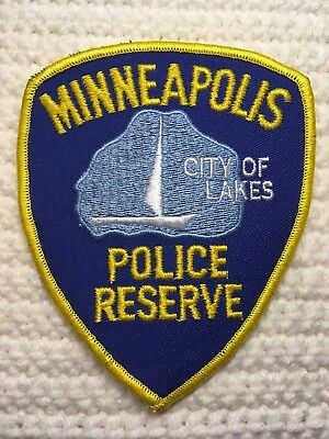 Minneapolis Police Embroidered Patch Reserve City Of Lakes Sailboat New Color