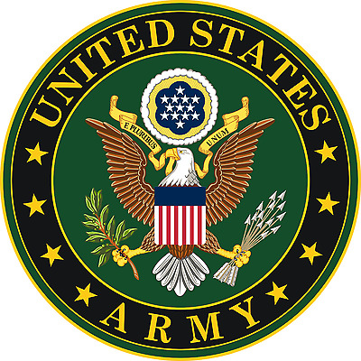 Army USA Army 4 Inch Eagle Symbol Round Decal Sticker Outdoor or Indoor