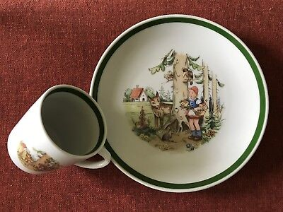 Little Red Riding Hood ~ Cup and Plate Set ~ Made In Germany (GDR) ~ EUC