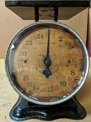 Antique 1912 Parcel Post Postal SCALE 25Lb. Capacity Clock Face Family Household