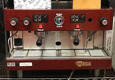 Wega Orion 2 Group Commercial Espresso Machine Red  Professional Coffee