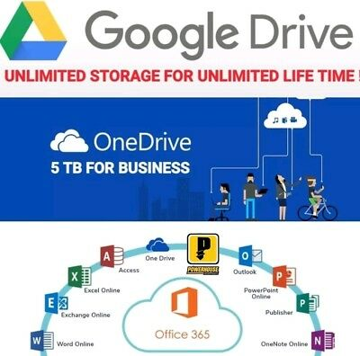 5 T.B flor  One DRIVE AC  unlimited for google  drive storage on existing