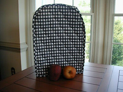 Black Gingham Appliance Cover fits Kitchen Mixers Etc, quilted fabric