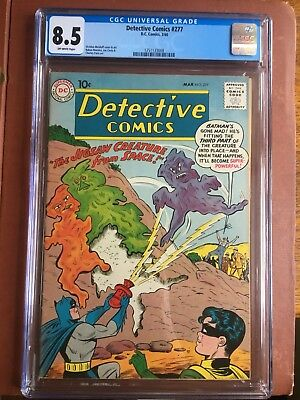 Detective Comics 277 CGC 8.5 OW Batman File Copy Rare GGA SWEET GOLD