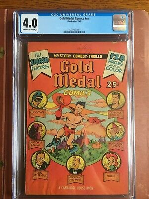 Gold Medal Comics #NN CGC 4.0 OW/W 1945 Captain Wise Rare Census 5 SQRBND GOLD