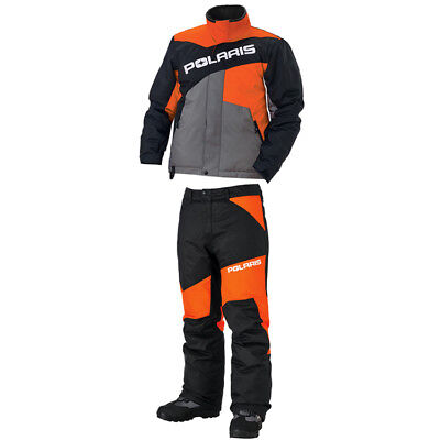 Polaris™ Drifter Orange Men's Winter Insulated Snowmobile Suit (Jacket & Pants)