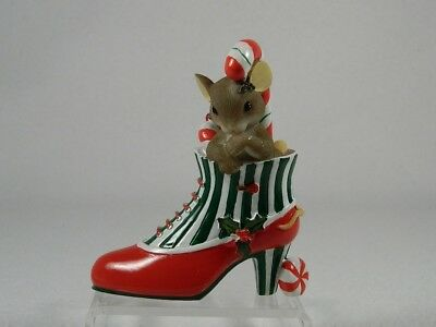 Charming Tails 'You're A Sweet Sole' Holiday Shoe #4017329 New In Box