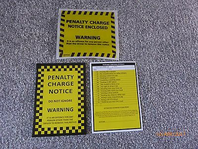 5 x Fake Joke Prank Parking Tickets with 5 Genuine Penalty Charge Envelopes