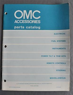 Orig 1979 Outboard Marine Accessories Parts Catalog P/N 8005033/390749 - Clean