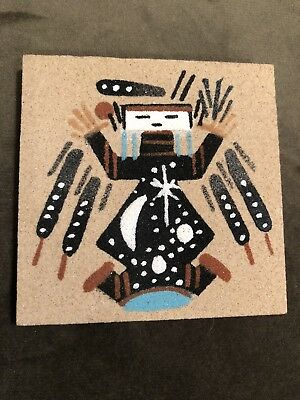 NEW Native American Navajo Sand Art Painting Refrigerator Fridge Magnet