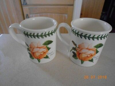 Portmeirion Botanic Roses Pair Of Coffee Mugs - Brand New
