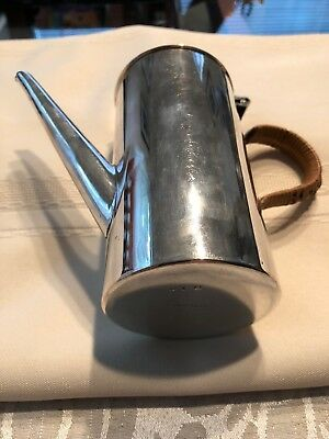 Hukin & Heath Silver Plated Single Cup Chocolate Coffee Pot With Rattan Handle
