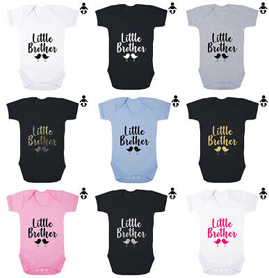LITTLE BROTHER, lil bro, brother, sister, sibling Baby grow BABY VEST / Bodysuit