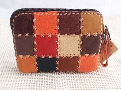 Genuine Leather Bag Coin Wallet Holder Case Change Purse Pouch Handmade Women #3