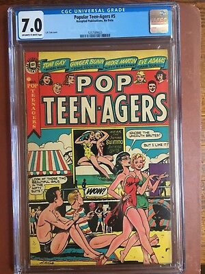 Popular Teen-Agers 5 CGC 7.0 OW/W L. B. Cole GGA Headlights Tailights SWEET