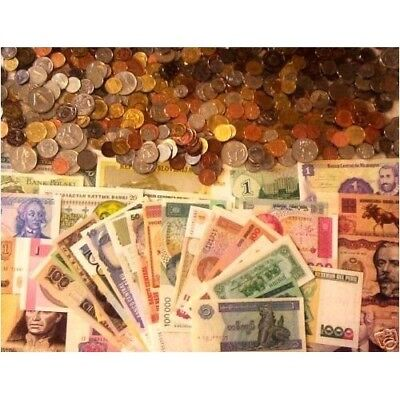 Treasure Hunt! -> 25 Foreign Coins + 15 Banknotes + 100+ Year Old Coin! >>>>
