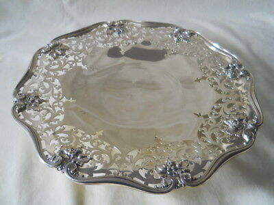 """American Sterling Footed Pierced Tray 10.5"""" 375 Grams"""