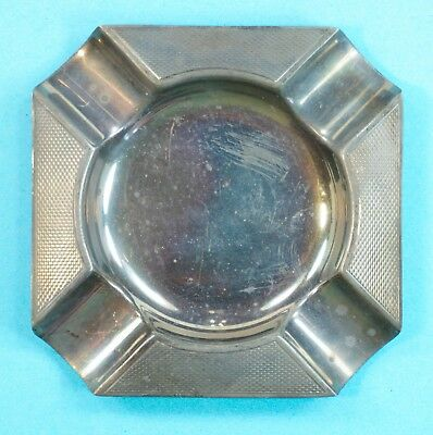 EX Vintage Masonic Nickel Alloy Cigarette Cigar Ashtray Ash Tray
