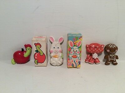 Vintage Pin Pals by Avon - Willy Worm Funny Bunny Cat Gingerbread Boy