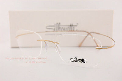 New Silhouette Eyeglass Frames TMA Must Collection 5515 CR 7530 Gold Titan 54