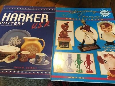 Lot Of Two Books Harder  Pottery,Advertising Character Collectibles