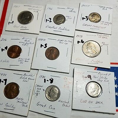 Us coins dimes error mixed errors