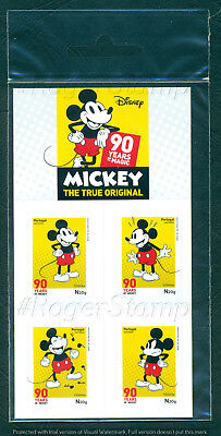 Portugal 2018 Mickey 90 Years*booklet W/4 Self-Adhesives Stamps Mnh Issued 14/09