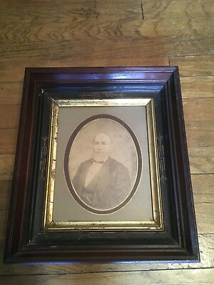 Antique Walnut Wood Victorian Deep Well Shadow Box Picture Frame